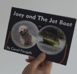 This picture shoes the cover page of Joey and the Jetboat