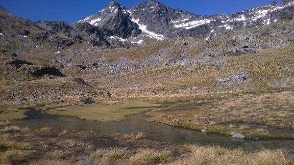 tarns on the way to Lake Alta, The Remarkables
