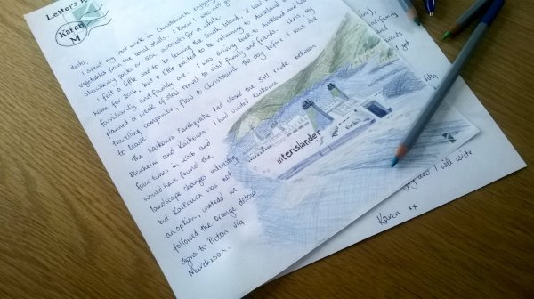 This picture shows the January 17 letter from Letters by Karen M