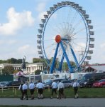 this picture shows the Ferris Wheel, the Bavarian Statue