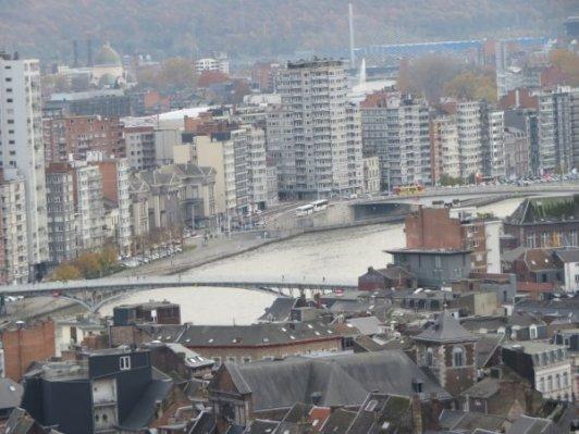 view from the top of Montagne de Bueren