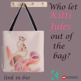 Kitti Jules totebag. Available in three sizes